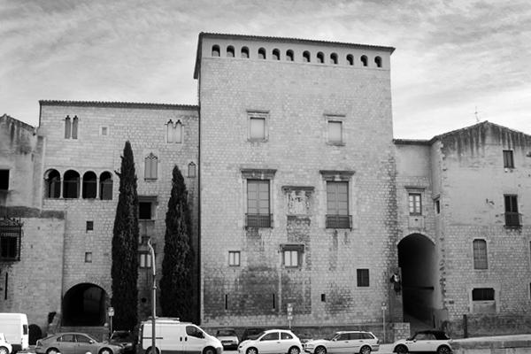 Façana de l'Antic Palau Episcopal. Actual seu del Museu d'Art de Girona