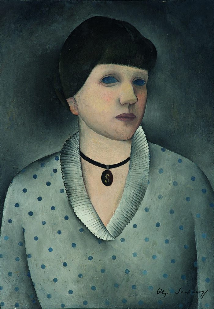 Autoretrat del medalló Olga Sacharoff