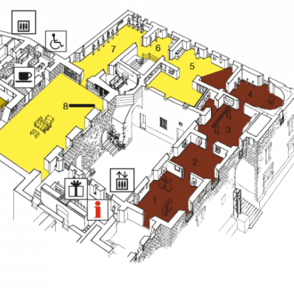 Plànol de la primera planta del Museu
