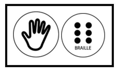 Logo braille i permès tocar