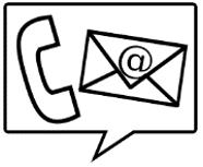 Logo telèfon i correu electrònic