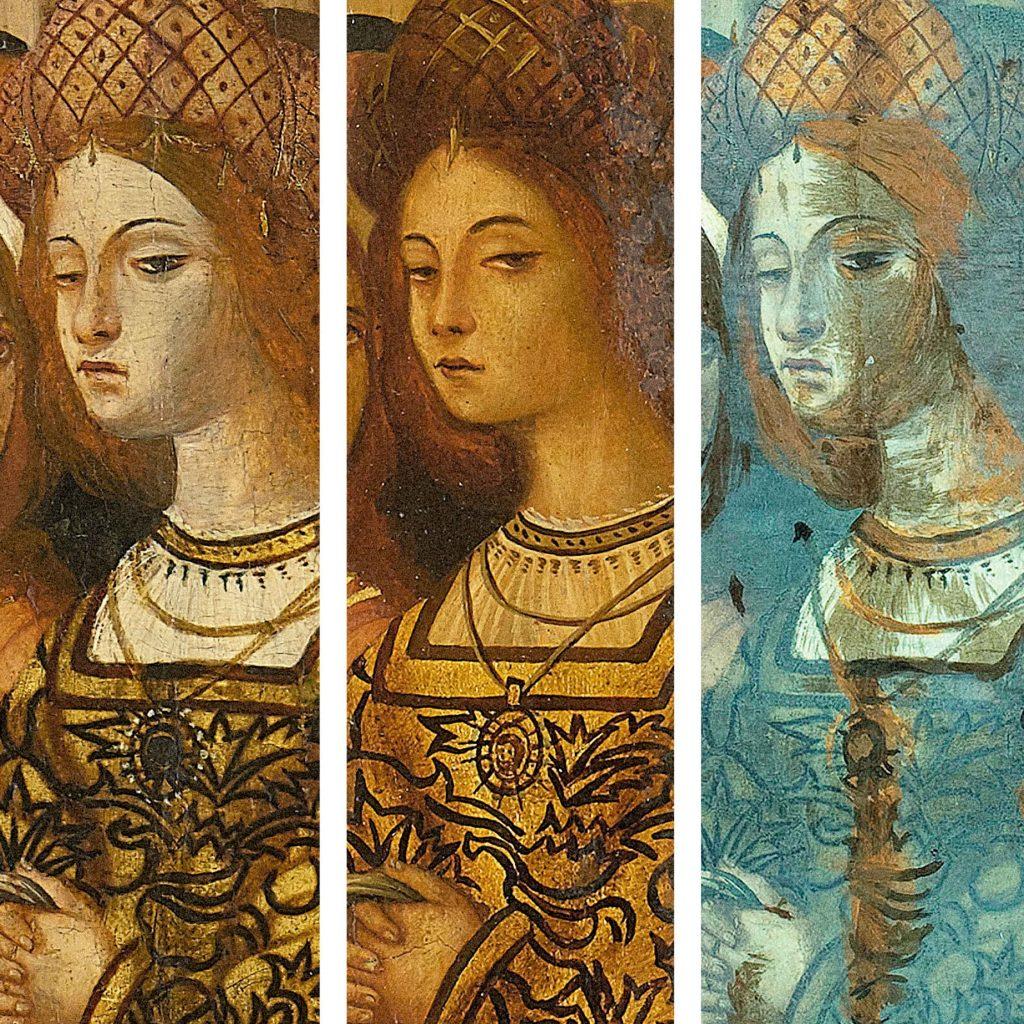 Tres quadres de la mateixa dona. Una obra verdadera, una falsa i una ultraviolada