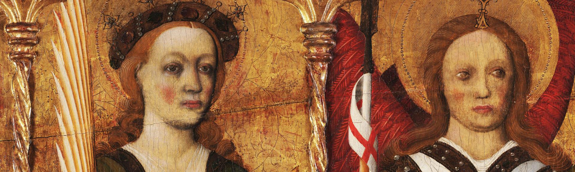 Dos rostres: una santa i un àngel