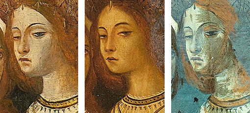 tres cares de la mateixa dona